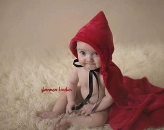 Little Red Riding Hood cape,photography prop,newborn,sitter,story book