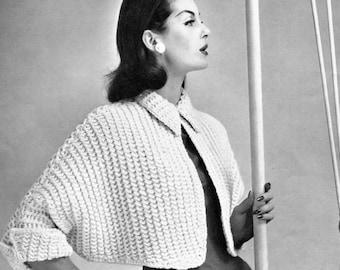 Vintage Shrug PDF knitting pattern in instant download version