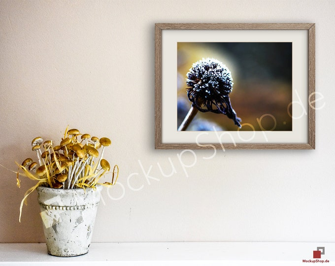 11x14 AUTUMN MUSHROOMS MOCKUP Frame Scene Smart Object / Set of 3 Scene / horizontal / autumn mushrooms photo frame mockup scene creator