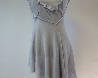 Feminine arctic ice linen tunic, L size. Only one sample, handmade.