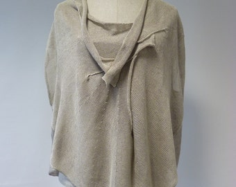 Sale, new price 40 EUR, original price 70 Beautiful natural linen blouse, XL size. Handmade, one-of-a-kind.