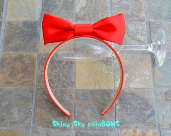 Disney Snow White Inspired Large Red Bow Headband, Snow White Cosplay, Snow White Birthday, Snow White Red Hair Bow, Snow White Headband