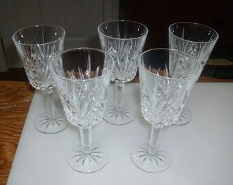 Vintage 6 1/2 inch beautiful crystal drinking glasses
