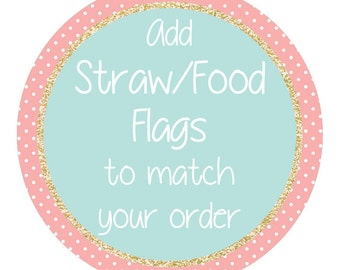Straw Flags Personalised Add-On