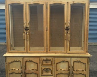Large Country French Dining Hutch