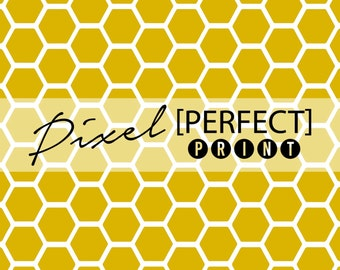 "3ft x 3ft ""Honeycomb"" Vinyl Backdrop // Vinyl Backdrops // Vinyl Photography Backdrop // Yellow Backdrops (PP644)"