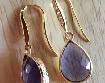 Tanzanite earrings in gold