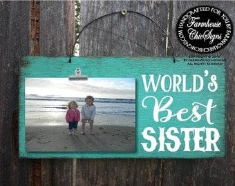 gift for sister, sister gift, sister, world's best sister, sister picture frame, Christmas gift sister, birthday gift sister, 241