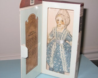 1976 Bicentennial Commemorative Hallmark Martha Washington Collectible Cloth Doll - Patriotic