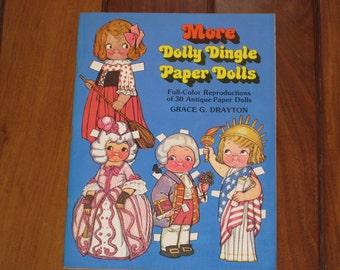 1979 More Dolly Dingle Paper Dolls by Grace G. Drayton (Uncut)