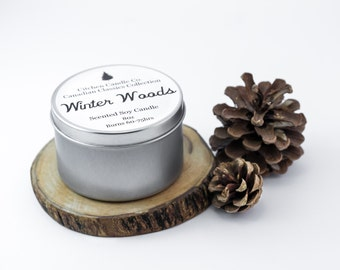 8 oz Canadian Classics Collection Winter Woods Scented Soy Candle