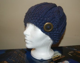 Blue wool hat adult