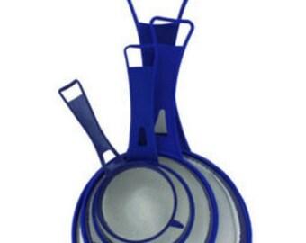 Kitchen strainer set 4pc - great for Kefir grains and Kombucha - Plastic Mesh Nylon strainer