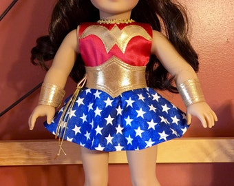 Wonder Woman costume for American girl or 18 doll