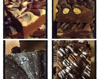 FUDGE SAMPLER - Care Package - Gifts for Dad - Homemade Fudge - Chocolate - Graduation Chocolate - Birthday Gift -Father's Day gift -