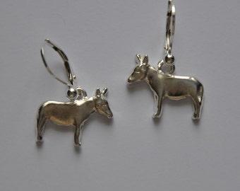 Sterling Silver Donkey earrings