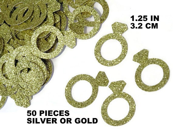 Rings gold confetti bachelorette party decorations ready in for 5 golden rings decorations