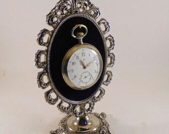 Vintage Brass Pocket Watch Stand/Holder