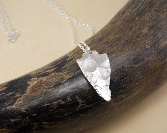 Silver cast Arrowhead Necklace