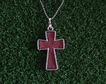 Football Cross Necklace