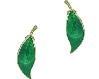David Andersen Leaf Earrings