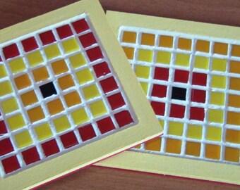 Mosaic square trivet