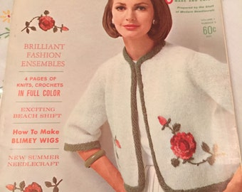 Vintage Fashion Craft Needle and Yarn Knitting Book, Vintage Knitting Pattern, Volume 1, No 3, 1964, Instructional Book