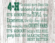 4H Backdrop/Banner for Fair Booth, Show Barn, Parade Float, Exhibition Hall, Photography Backdrop