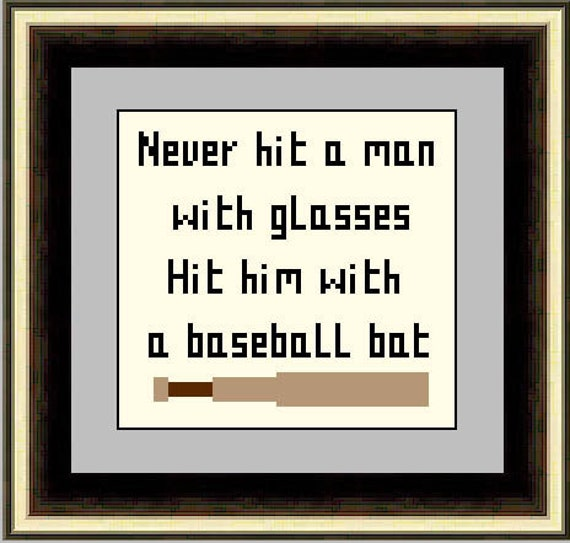 Hit a man with glasses