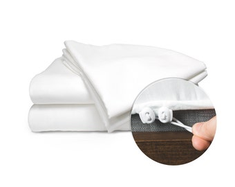 Custom Sheets - 300TC 100% Egyptian Cotton Boat RV Home - Fitted Sheet Does Not Pop Off - Beautiful Made in the USA Product