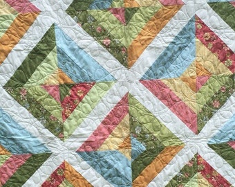 Butterscotch Floral spring quilt