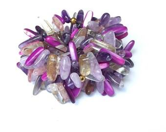Purple Mix Stick Bracelet