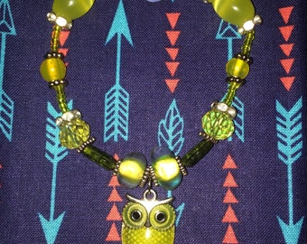 Yellow Owl Bracelet