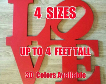Philadelphia LOVE PARK Sign....4 sizes available.....wooden wall display