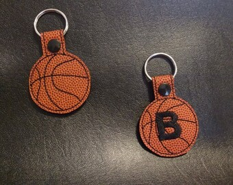 Basketball Key Fob keychain snap tab