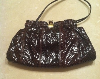 Brown Snake Skin Purse