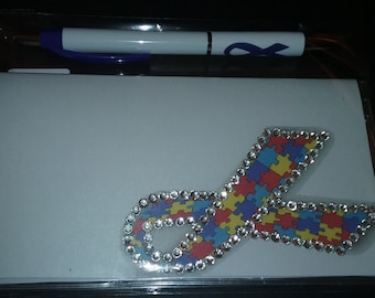 Custom Designed Autism Awareness CheckBook Covers with Free Pen