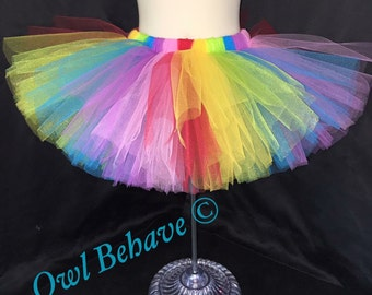Rainbow Tutu | Rainbow Party | Birthday Outfit | Tutus | Rainbows | Tutus for girls | Dress up | Halloween Costume | Skirts for girls