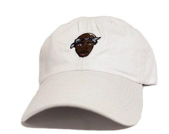 2pac dad hat white