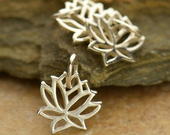 Sterling Silver Tiny Lotus Charm