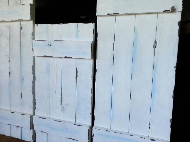 48 rustic wood shutters primitive shutters decorative - Shutters for decoration interior ...