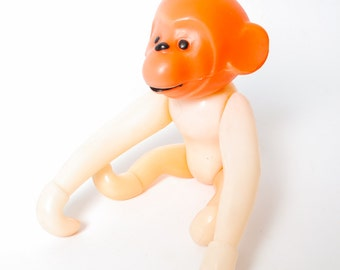Vintage Russian Plastic Toy, small monkey  (CI1009)