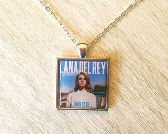 Lana Del Rey inspired pendant necklace in silver or bronze