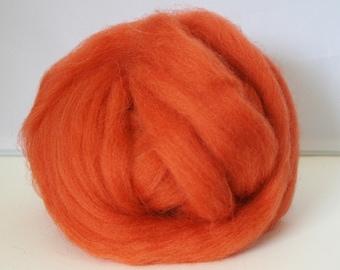British Felting Wool Top - 25 g Shetland orange/cinnamon - British felting wool - orange felting wool