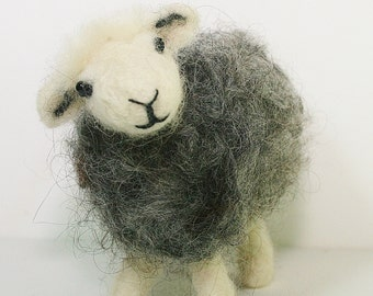Sheep needle Felting Kit ~ herdwick sheep ~ needle felting for beginners ~ herdwick sheep needle felting kit