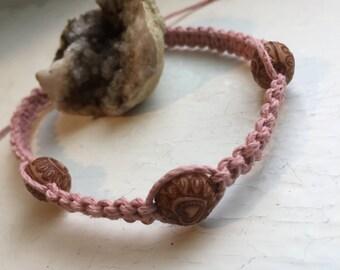 Beaded Hemp Bracelet. Custom Jewelry. Hemp Jewelry. Natural. One Of A Kind.