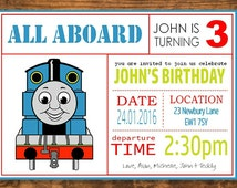 Thomas Party Invitation - Personalised and Downloadable PDF and JPG JPEG