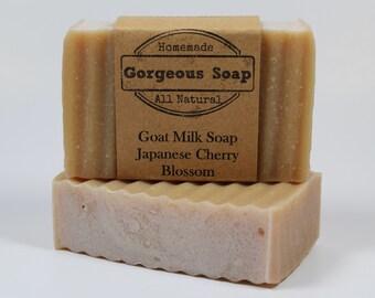 Japanese Cherry Blossom Goat Milk Soap - All Natural Soap, Handmade Soap, Homemade Soap, Handcrafted Soap