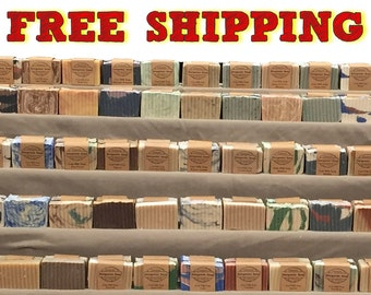 Pick 10 Handmade Soaps, Mix And Match Your Choice Of MANY Varieties And Get FREE shipping - All Natural Homemade & Handcrafted Soaps