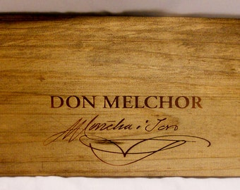 Wine Crate Panel End, Engraved Collectors CHILE Don Melchor Wine Crate Panel End
